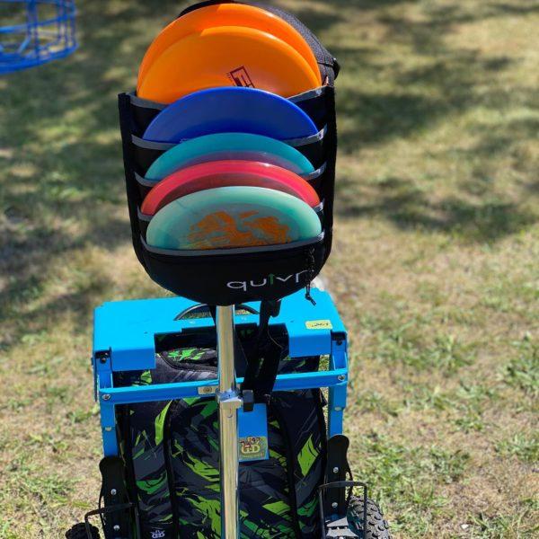 quiver on zuca cart sweet spot disc golf