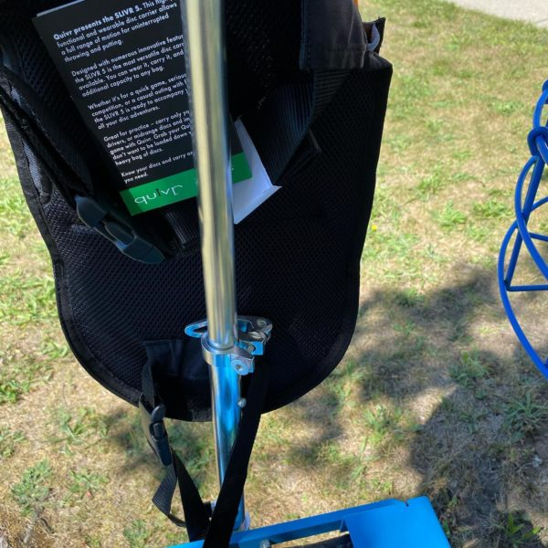 Photo of how Quiver is attached to zuca cart
