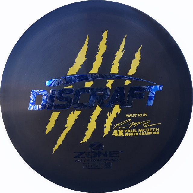 2b7a2683893 Discraft First Run BLACK Z Zone Paul McBeth Signature Series