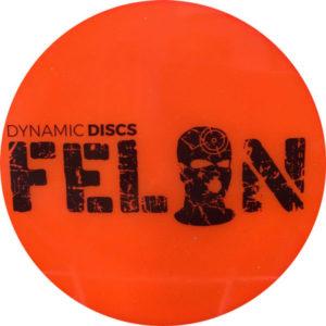 Orange Dynamic Discs' Lucid Felon Driver Disc Golf Disc