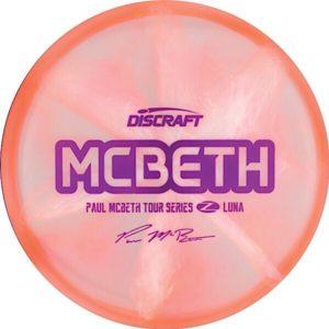 Discraft Tour Series Paul McBeth Z Swirl Luna