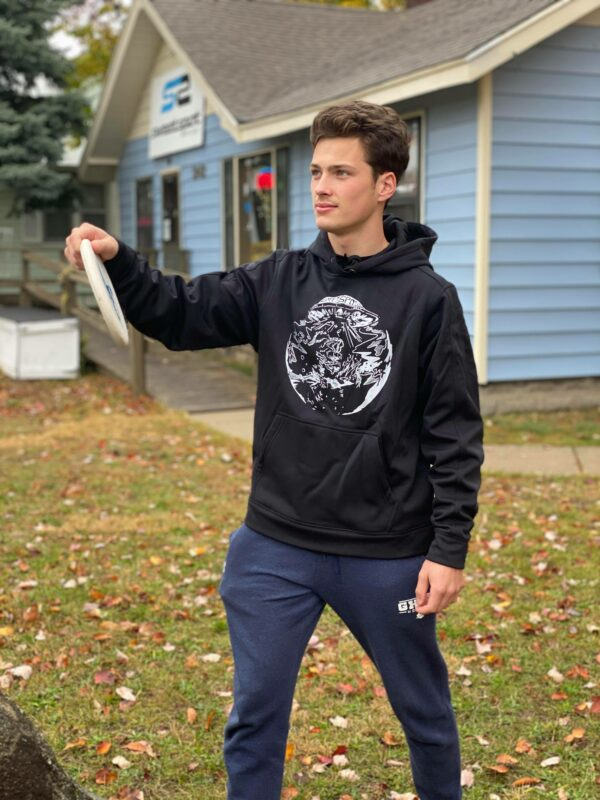 disc golf rain repellent hoodie outdoors